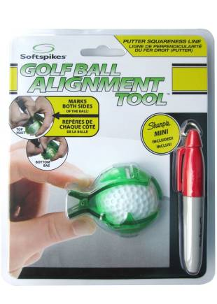 Masters Soft Spikes Golf Ball Alignment Ballmakierer