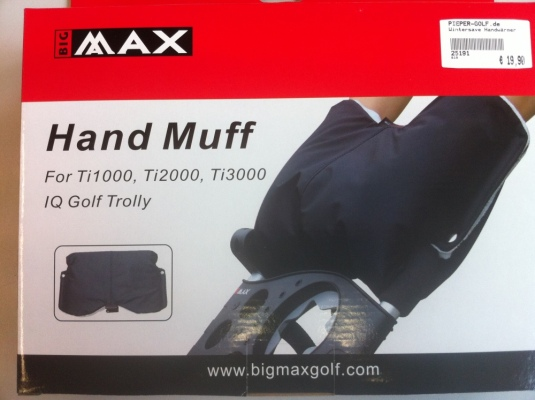 Silverline Golf Teleskop Entfernungsmesser : Big max muff handwärmer